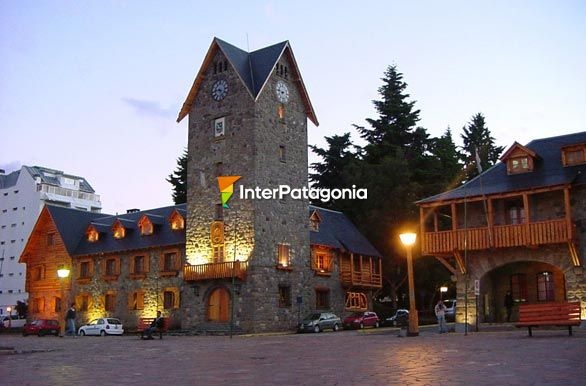 First lights at night in Bariloche