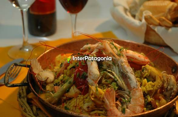 Exquisitos frutos de mar - Camarones,