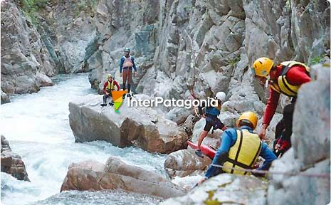 Canyoning in Arroyo de la Virgen