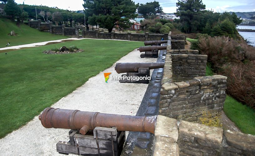 Brass canons that dominated the entrance to the port