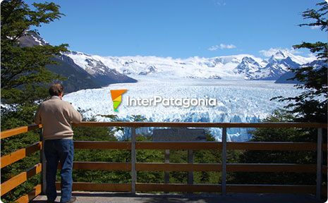 Beholding the glacier from the footbridges