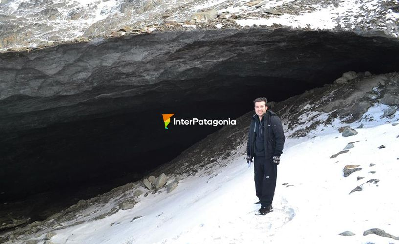Cave in the glacier