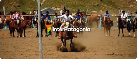 Rodeo at the Loom Festival in Caviahue