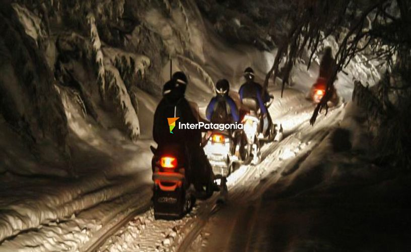 Go on a night ATV and snowmobile