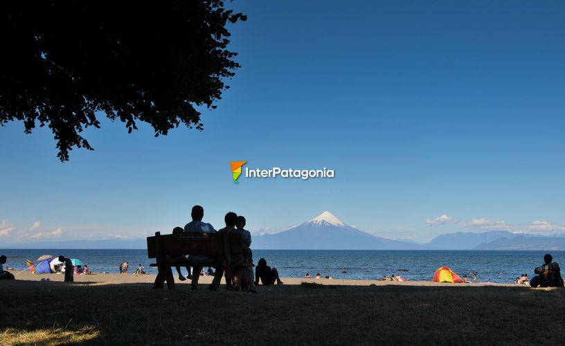 The shores of Lake Llanquihue