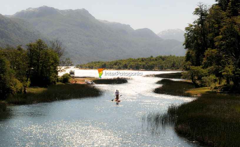 Villarino lake and river