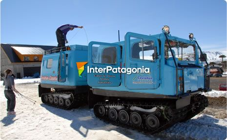 Tour to the Copahue Volcano on a tracked vehicle
