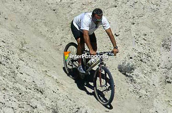 Mountain bike en cerro Avanzado