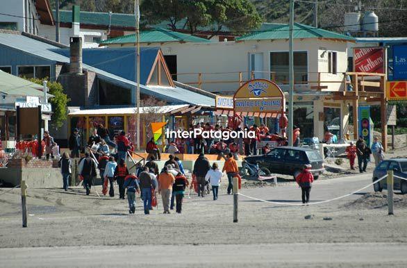 Pueblo >> Fotos de Puerto Pirámides: Calle de operadores y comercio