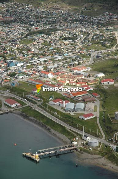 Flying over the southernmost city in the world - Ushuaia,