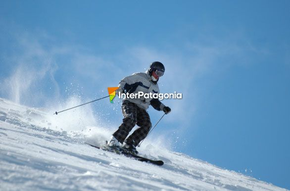 Skier in the ridge, Mount Bayo - Villa La Angostura