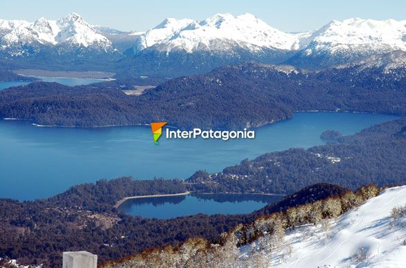The joint of Lakes Nahuel Huapi and Correntoso - Villa La Angostura